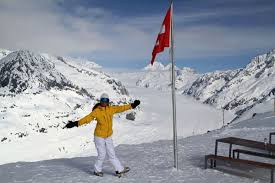 Skiing Swiss Alps