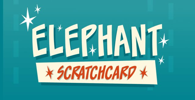 Elephant Scratch Card