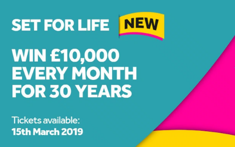 Set For Life UK Lotto Game